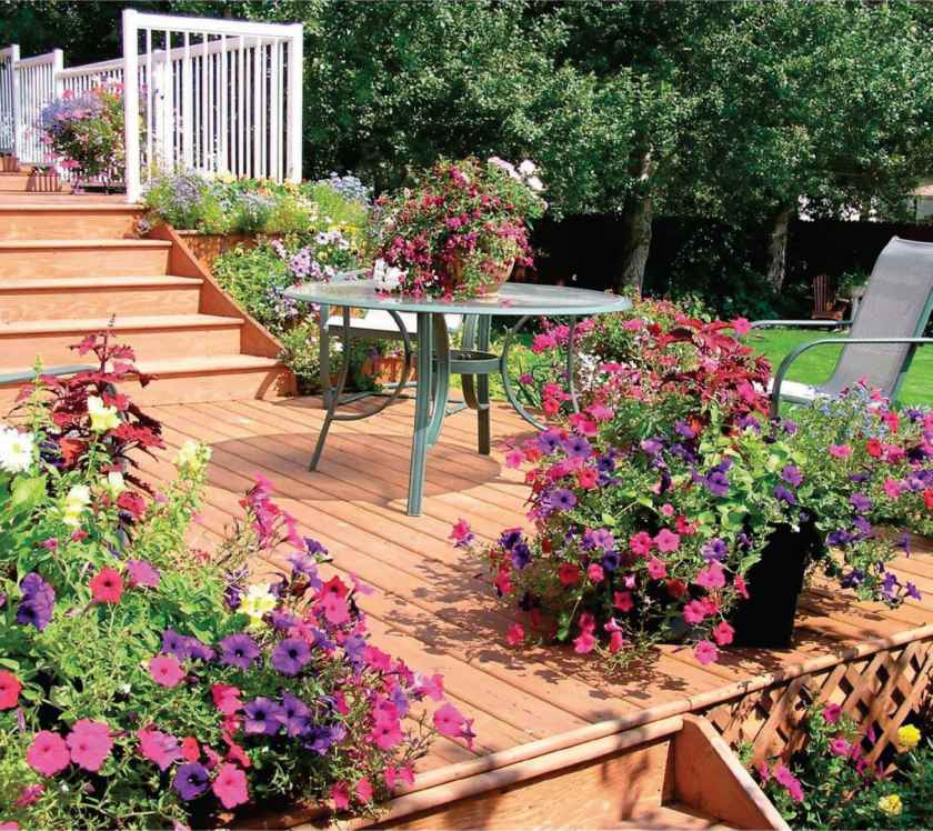 Landscaping Around Tall Deck : How landscape around tall deck