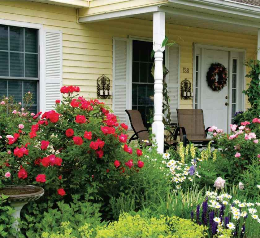 How Build Porch Hith Flower