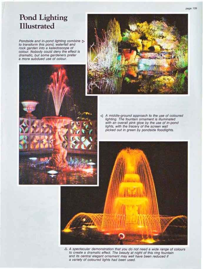 Garden Water Features With Lights