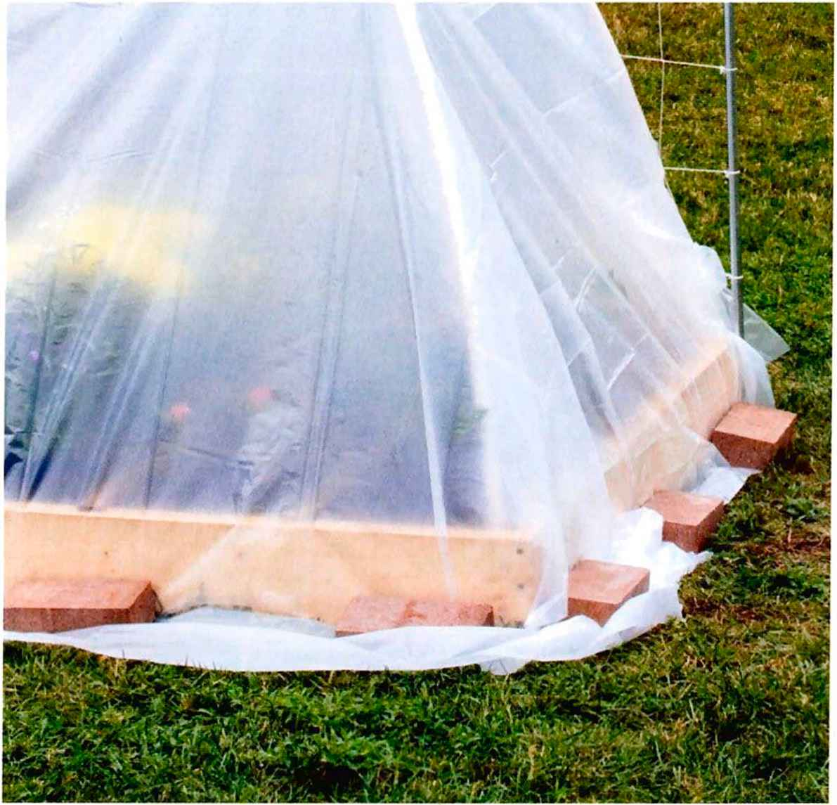 Landscape plastic cover : All new square foot gardening