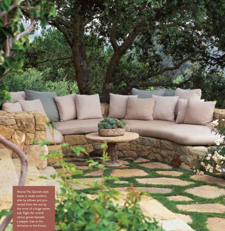 Hillside Of Olives And Outdoor Rooms - Tropical Garden on Downward Sloping Garden Ideas id=36400
