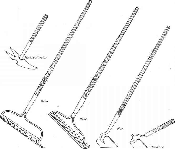 Identify Parts Garden Tools